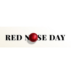 red nose day abstract sign emblem or vector image