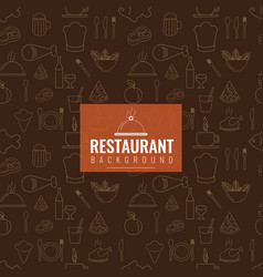 restaurant cafe or food seamless texture pattern vector image