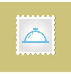 Restaurant Cloche stamp vector