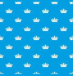royal crown pattern seamless blue vector image