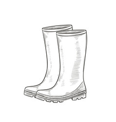 rubber garden boots protection shoes vector image