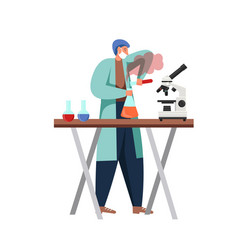 science people in lab flat isolated vector image