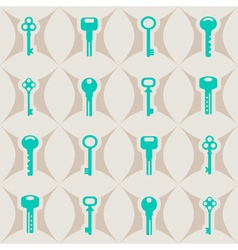 Seamless background with keys vector image
