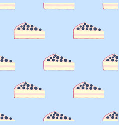 seamless pattern of cakes pies - yogurt cream vector image