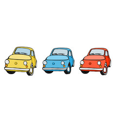 set with cars vector image