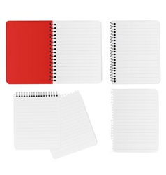 set with notepads vector image