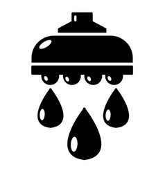 shower head icon simple black style vector image