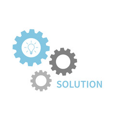 solution or idea concept business conception idea vector image