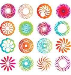 Spirograph designs vector