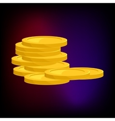 Stack of gold coins icon cartoon style vector image