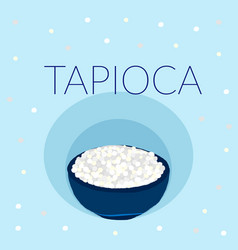 Tapioca pearl topping for tea or other beverage vector