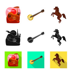 Texas and history icon set vector