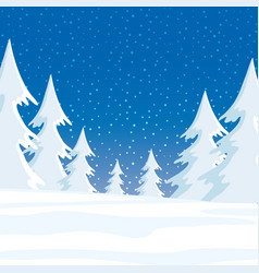 winter forest and snow vector image