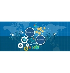 b2b business to bizz vector image