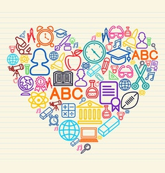 Back to school Love concept vector image vector image