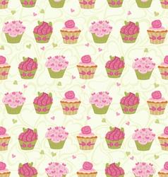 cupcakes seam vector image