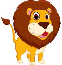 cute lion cartoon standing vector image