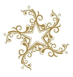 floral star design vector image vector image