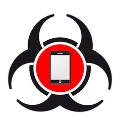 Mobile virus vector image vector image