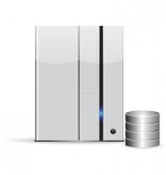 server network database vector image