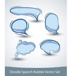 speech bubble set on white background vector image