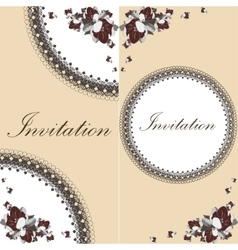 Beautiful floral invitation card with flowers vector image vector image