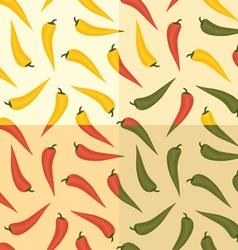 chili pattern vector image
