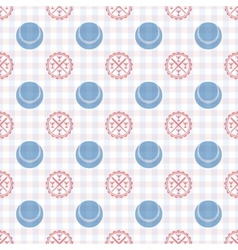 Seamless pattern of baseball vector image