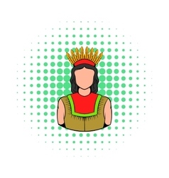 American Indian icon comics style vector image vector image