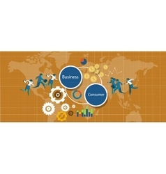 b2c business to consumer vector image