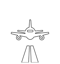 Flat lines plane vector image