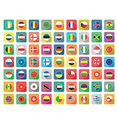 Flat world icons vector