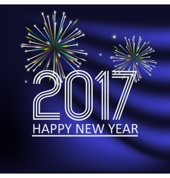 happy new year 2017 on blue navy abstract color vector image vector image