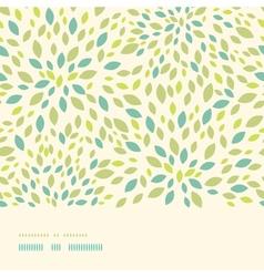 Leaf texture horizontal border seamless pattern vector image vector image