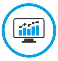 Monitoring Flat Icon vector image vector image