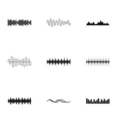 sound icons set simple style vector image vector image