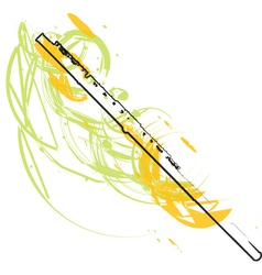 abstract flute vector image