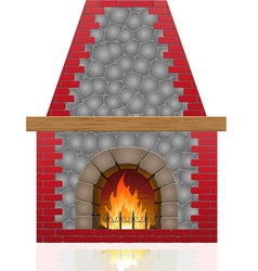 fireplace 01 vector image vector image
