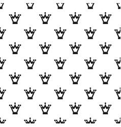 princess crown pattern vector image vector image
