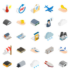 voyage icons set isometric style vector image vector image