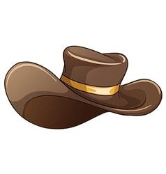 A brown hat vector