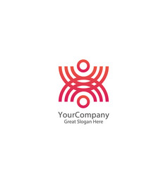 Abstract community circle people logo united vector