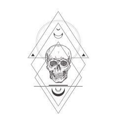 Abstract occult symbol vintage style logo vector
