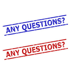 Any questions question stamps with rubber surface vector