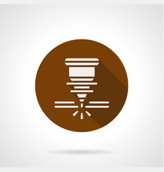 Automatic welding laser brown round icon vector