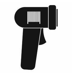 Barcode scanner icon simple style vector image