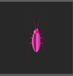 beetle logo creative design in trend gradient vector image