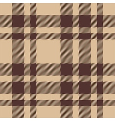 Beige brown check plaid seamless pattern vector