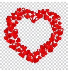 big heart made of small vector image