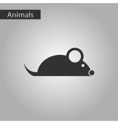 Black and white style icon mouse vector